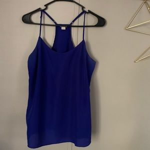 JCREW Royal Blue Spaghetti Strap Tank Top Camisole